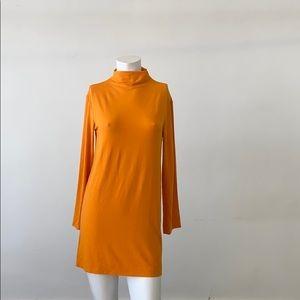 Marimekko bright yellow/orange mini dress-Small